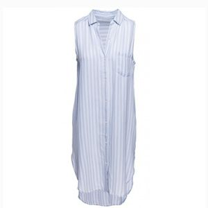 Rails Boho Button Down Dress in Chalk Stripe XS